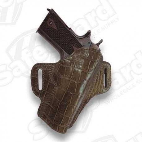 Tagua Premium Open Top Belt Holster Glock 26 - Brown